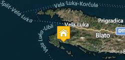 Accommodation Korcula Villa Silva Map