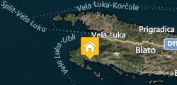 Accommodation Korcula Villa Silva Map